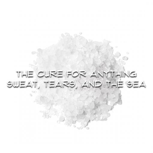 THE CURE FOR ANYTHING: SWEAT, TEARS AND THE SEA
